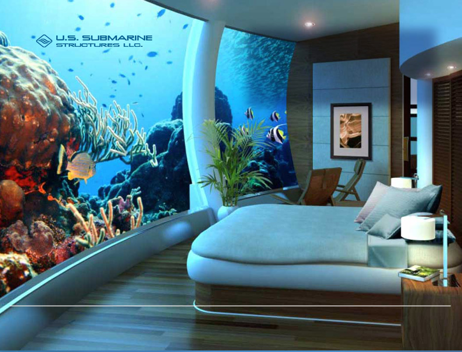 Undersea bedroom suite is without question the world s